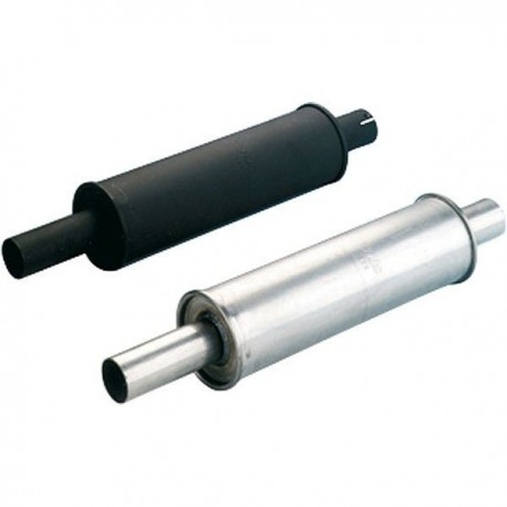 Silencer round stainless steel 110X350mm